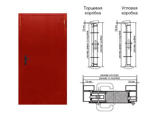 двери стальные однопольные